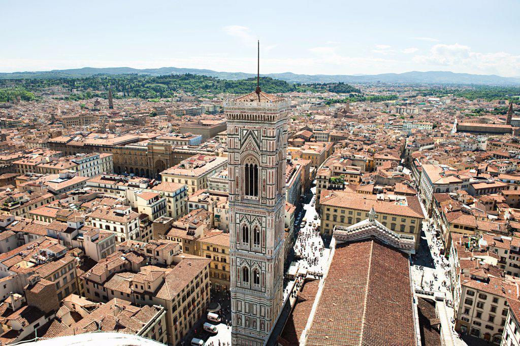 Stock Photo: 1439R-1130548 Campanile of Santa Maria del Fiore, Florence, Italy