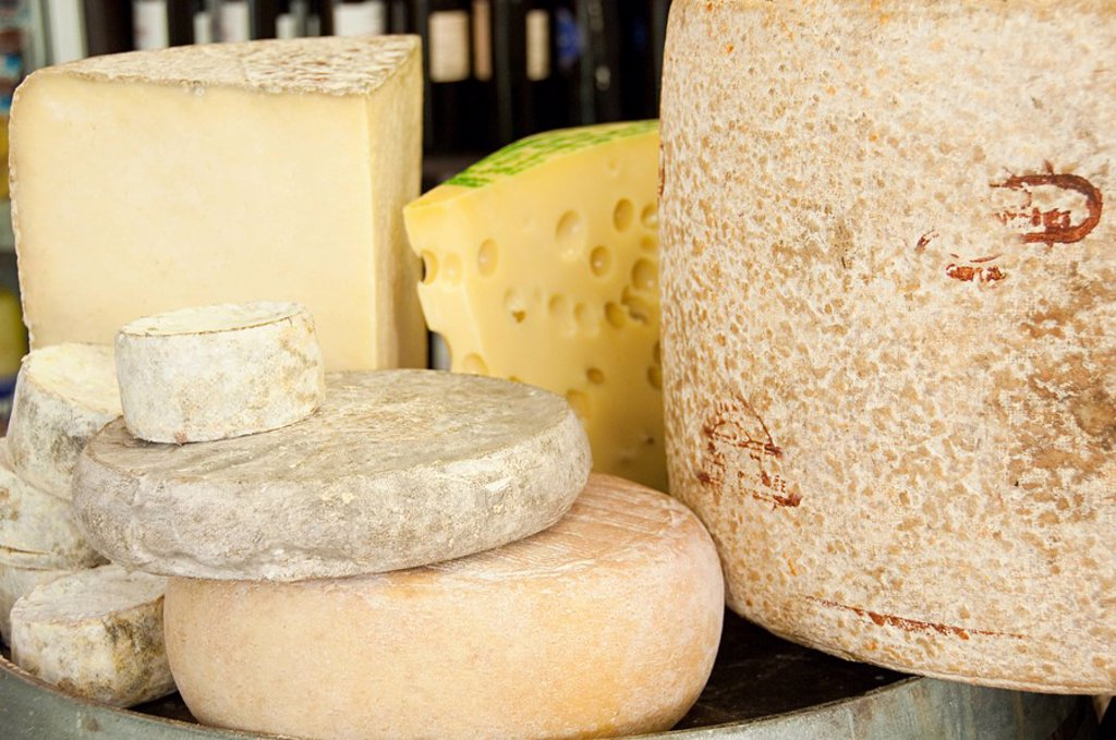 Cantal and auvergne cheeses : Stock Photo
