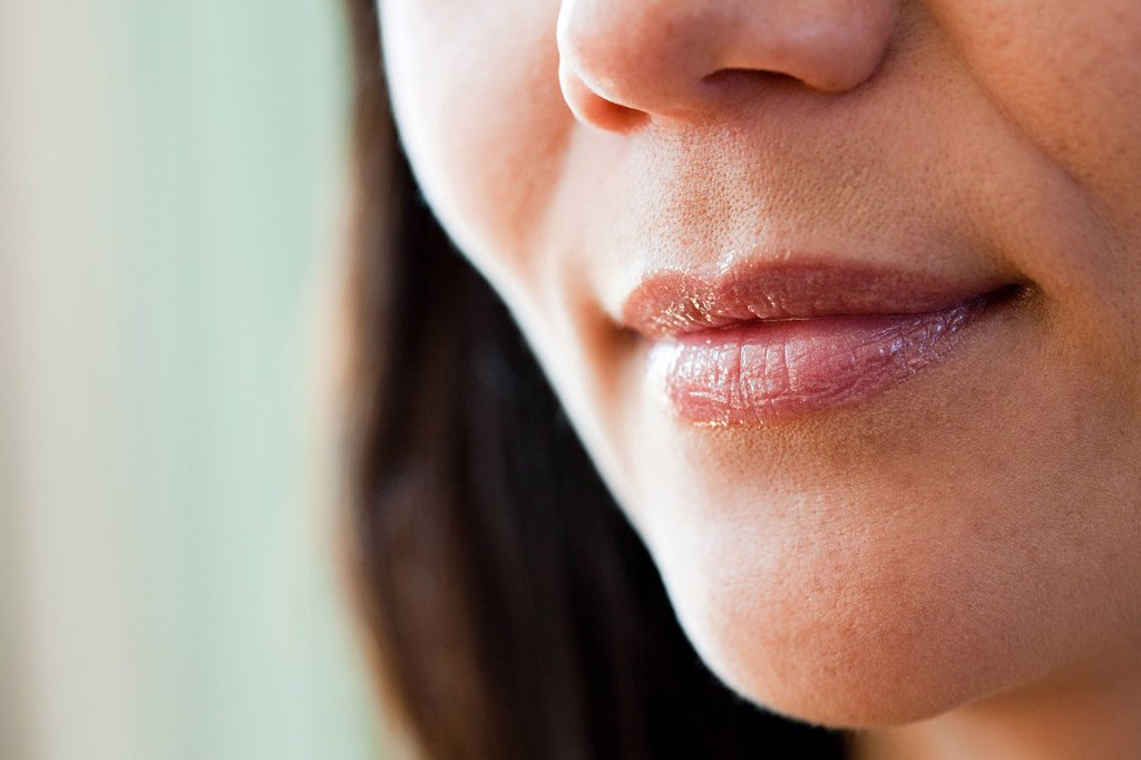 Stock Photo: 1439R-1134027 Close up on female mouth