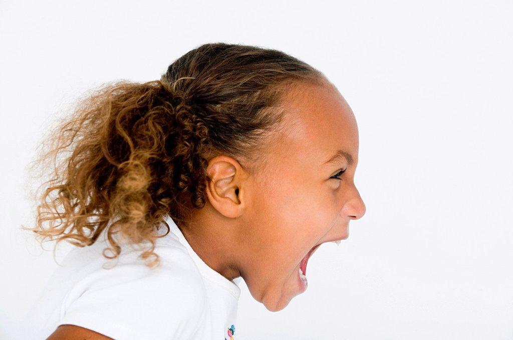 Stock Photo: 1439R-1134274 Girl screaming