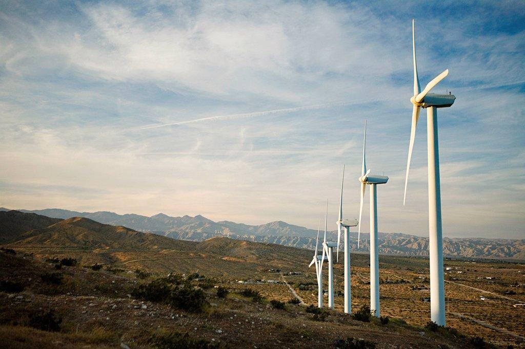 Wind farm, Indian Wells, California, USA : Stock Photo