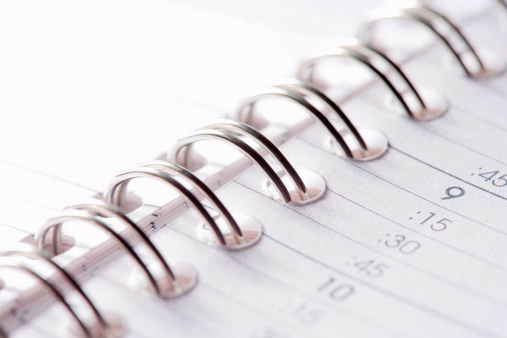 Open diary : Stock Photo