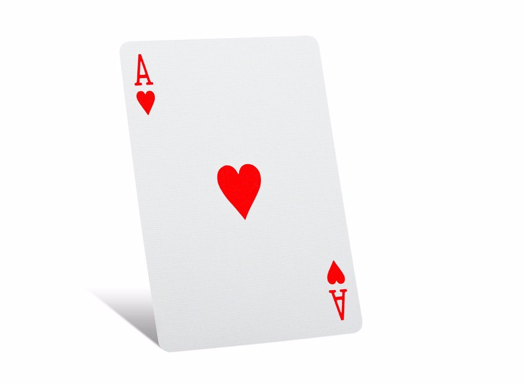 Stock Photo: 1439R-1147322 Ace of hearts