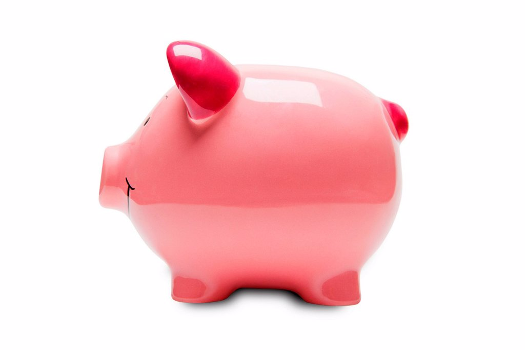 Stock Photo: 1439R-1147336 Pink piggy bank