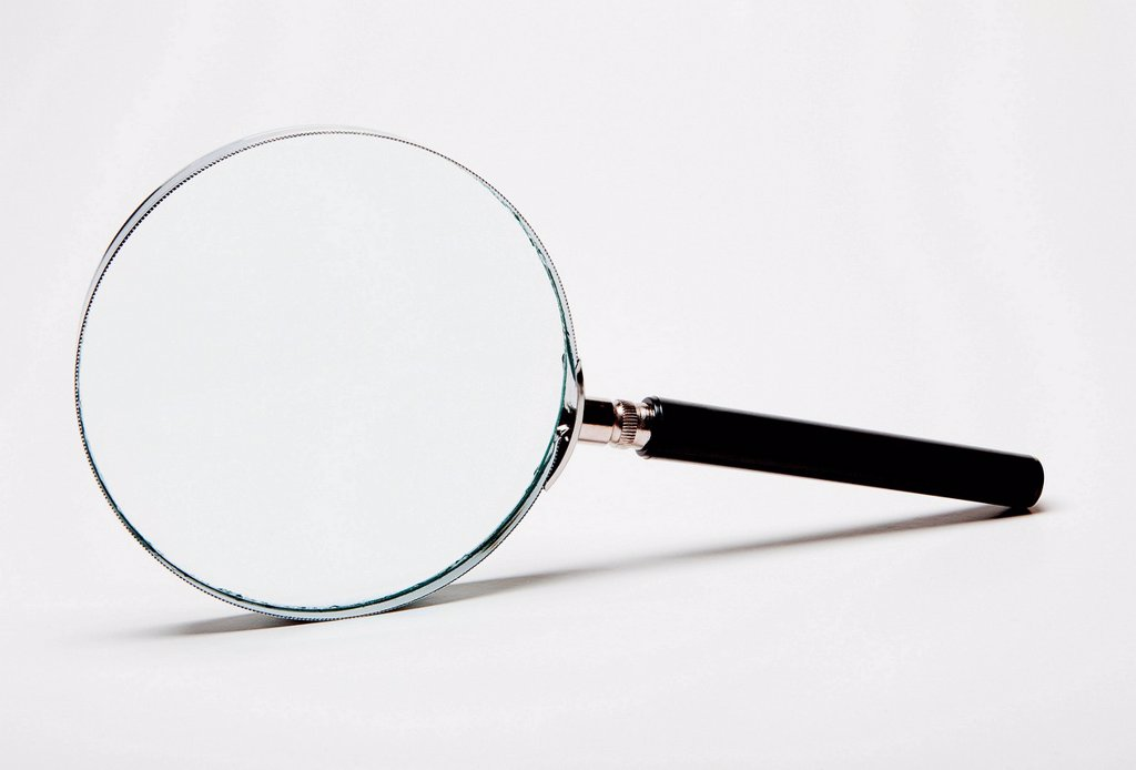 Stock Photo: 1439R-1147394 Magnifying glass