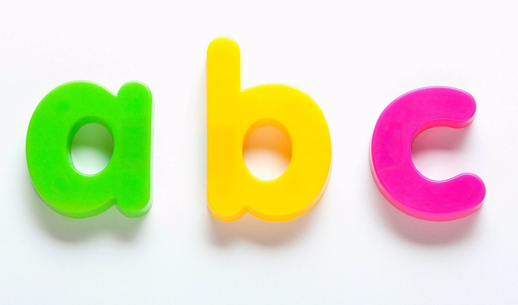 ABC fridge magnets : Stock Photo
