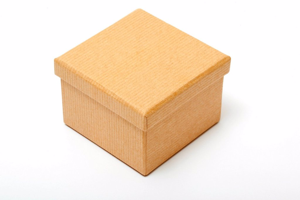 Stock Photo: 1439R-1147429 Brown paper box