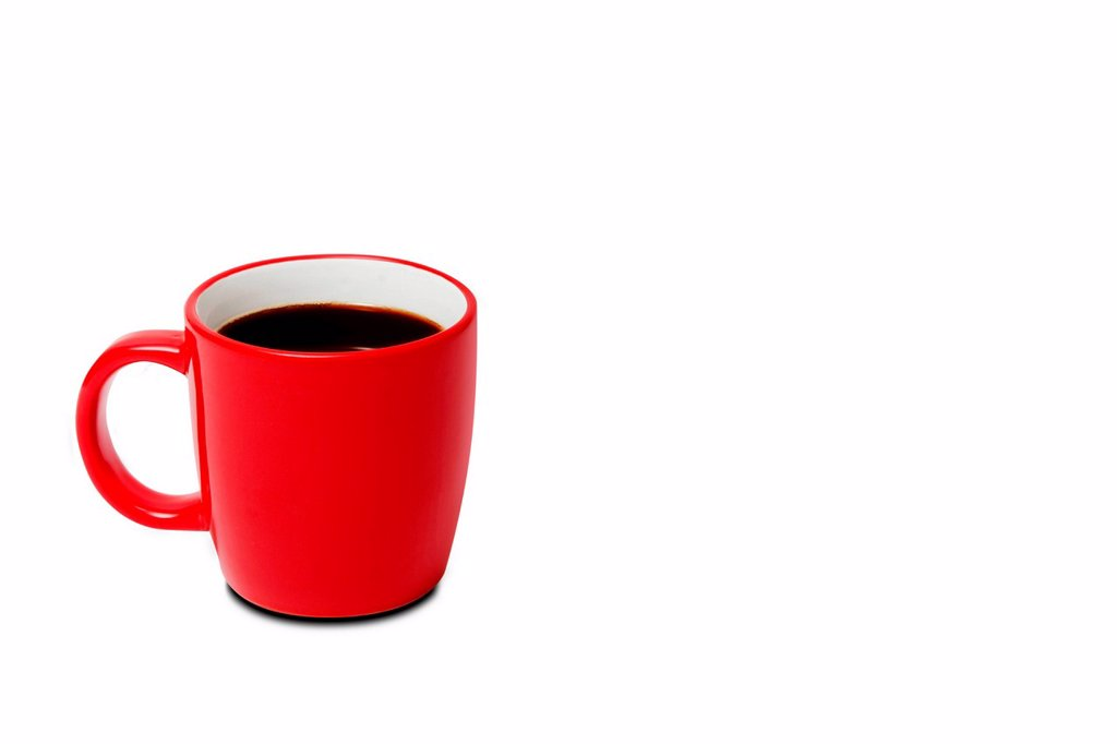 Stock Photo: 1439R-1147430 Red cup of coffee