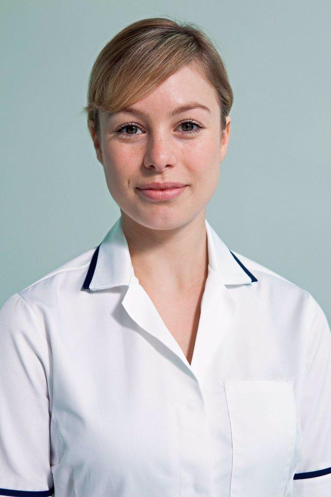 Portrait of hospital nurse : Stock Photo