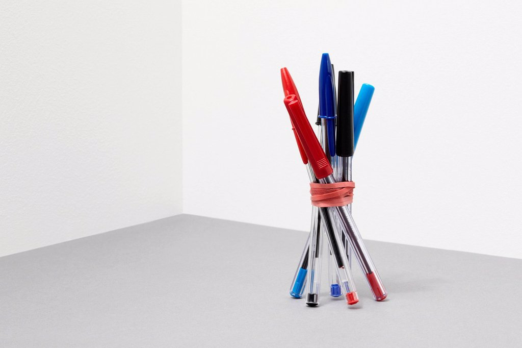 Stock Photo: 1439R-1147561 Bundle of pens
