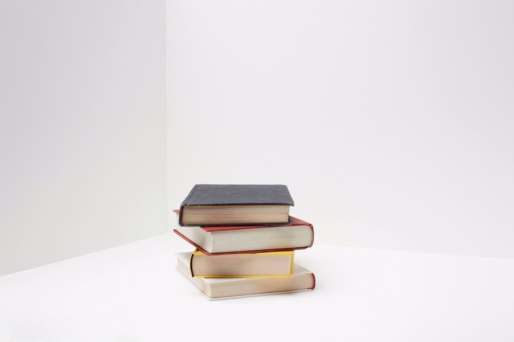 Stock Photo: 1439R-1147572 Stack of books