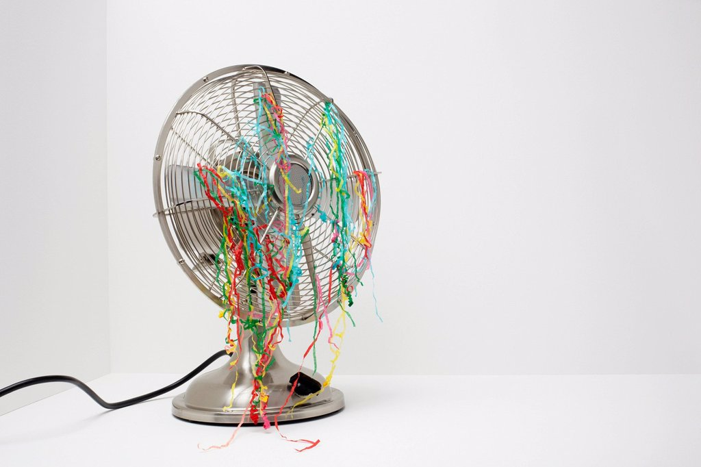 Stock Photo: 1439R-1147576 Electric fan with streamers