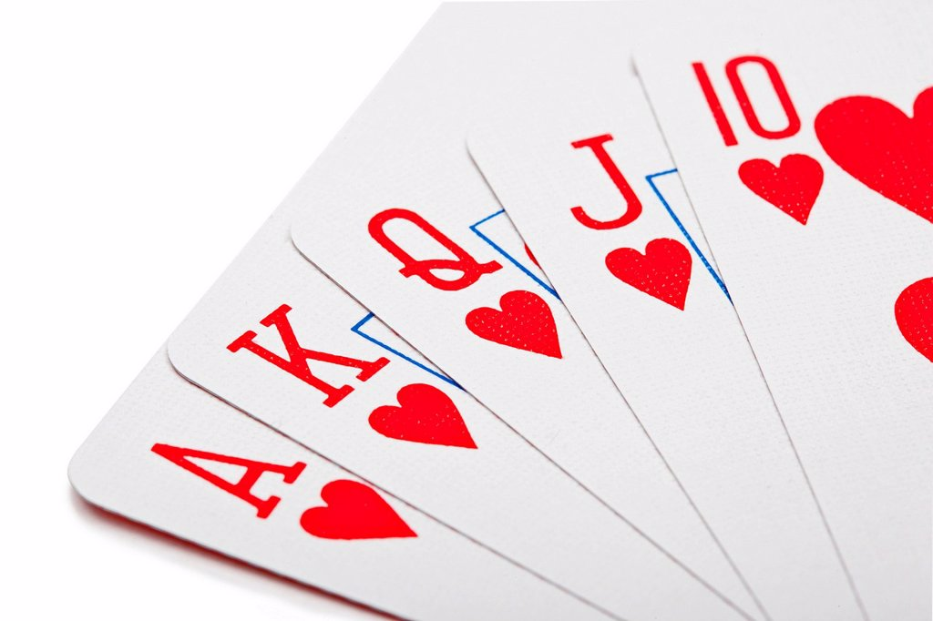 Stock Photo: 1439R-1147615 Royal flush