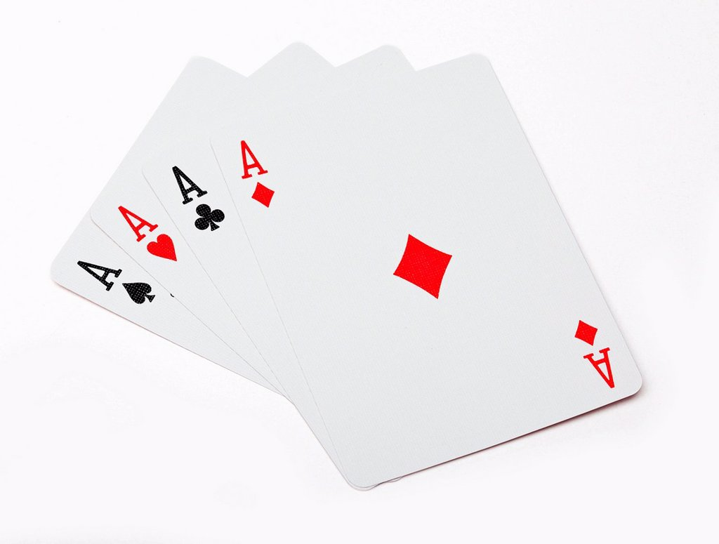 Stock Photo: 1439R-1147617 Four aces