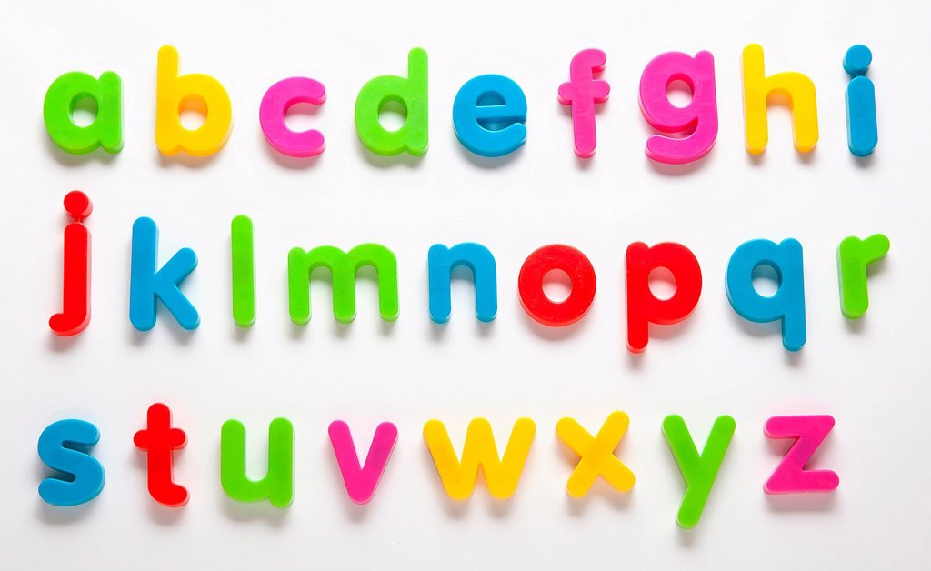 Stock Photo: 1439R-1147647 Alphabet fridge magnets