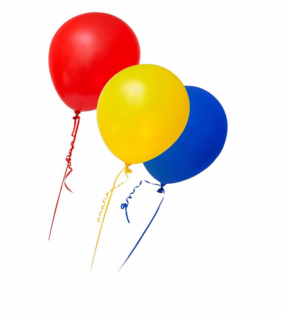 Balloons in primary colours : Stock Photo
