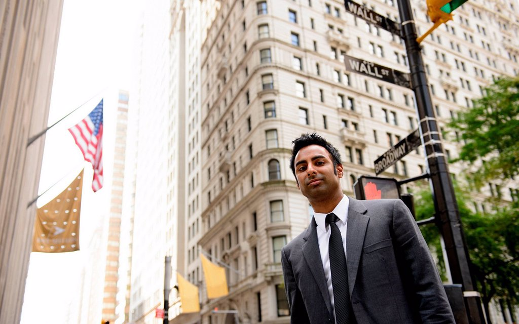 Businessman on Wall Street, New York City : Stock Photo