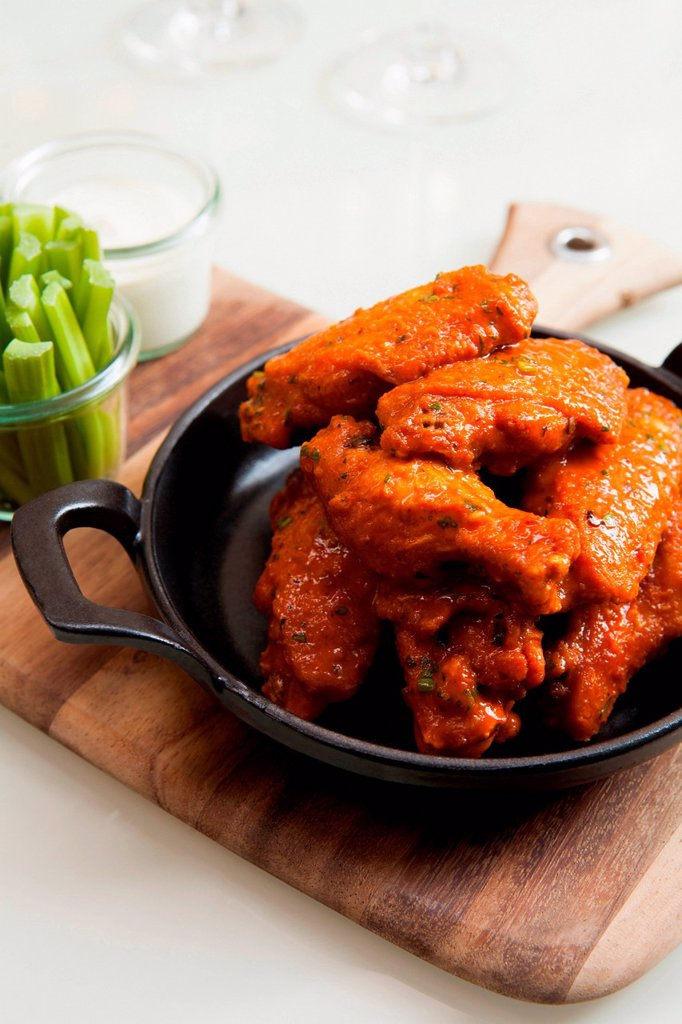 Stock Photo: 1439R-1147698 Dish of chicken wings