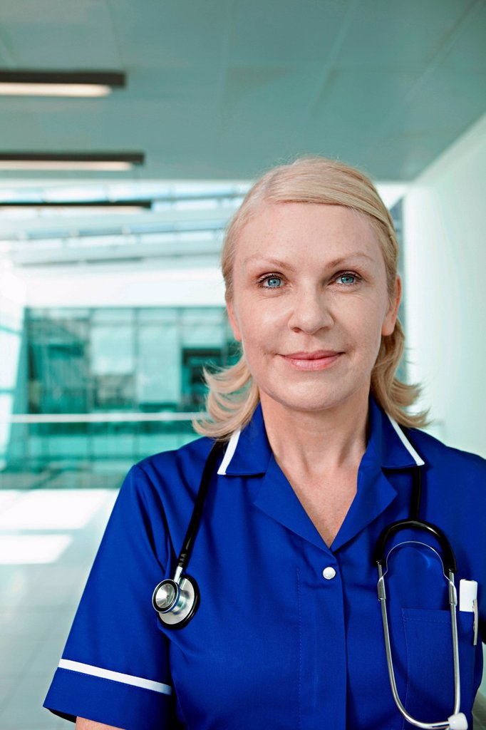 Stock Photo: 1439R-1147716 Portrait of hospital nurse