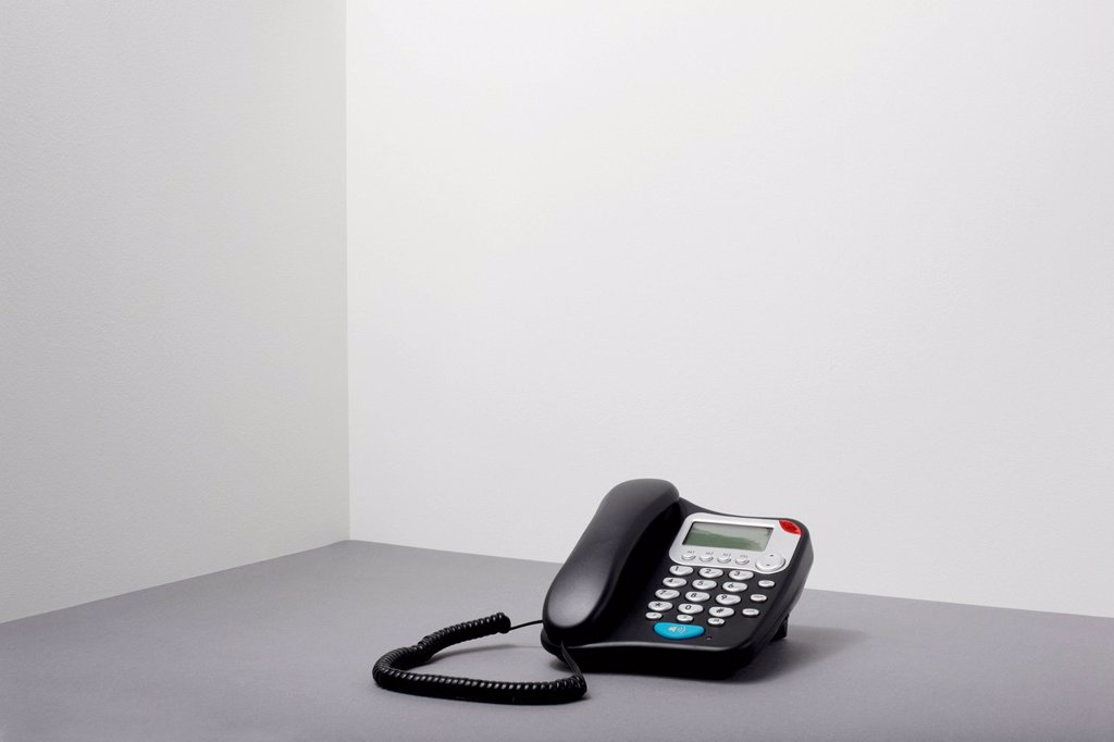 Stock Photo: 1439R-1147778 Landline office phone