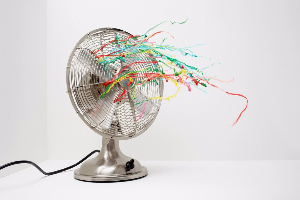 Stock Photo: 1439R-1147791 Electric fan with streamers