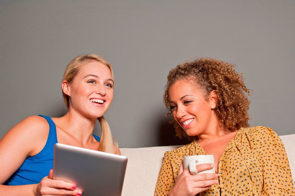Stock Photo: 1439R-1148816 Women with digital tablet