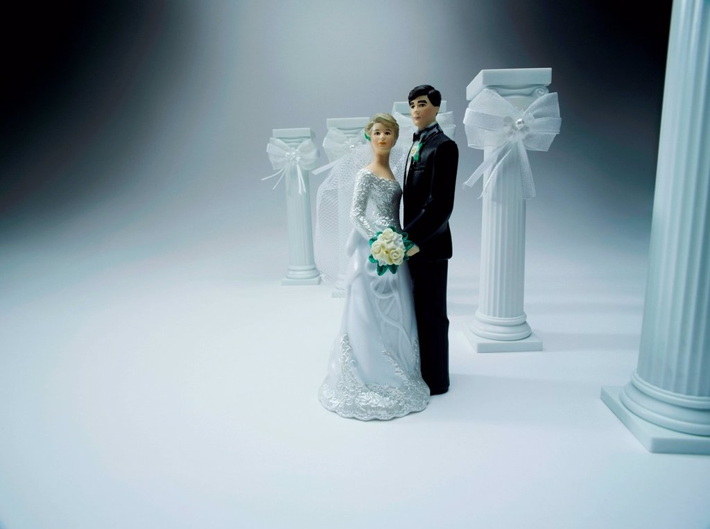 Stock Photo: 1439R-1149340 Wedding figurines