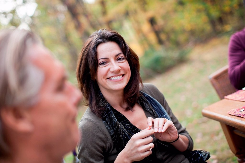 Stock Photo: 1439R-1149870 Mature woman smiling