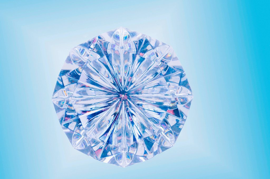 Close up of cut diamond : Stock Photo