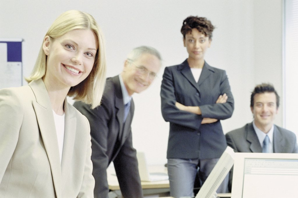 Stock Photo: 1439R-118029 Businesspeople in office