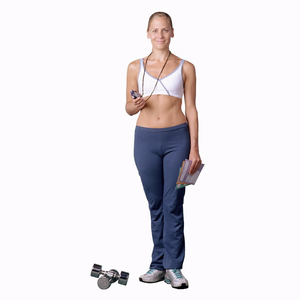 Stock Photo: 1439R-134008 Fitness instructor