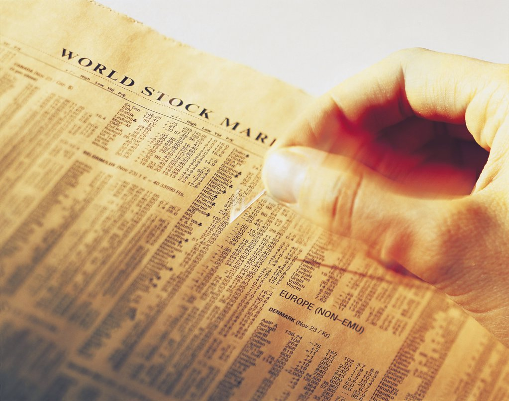 Stock market news : Stock Photo