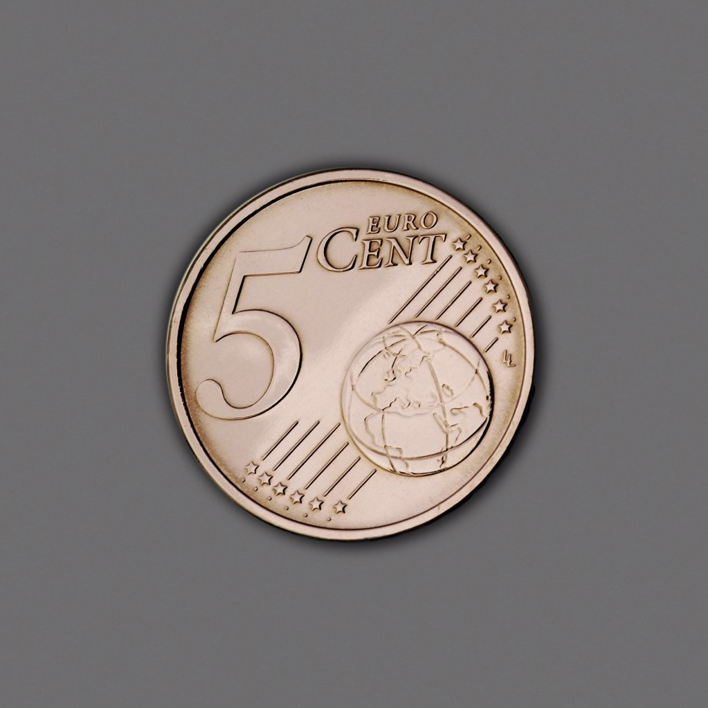 Stock Photo: 1439R-210078 Five Cents