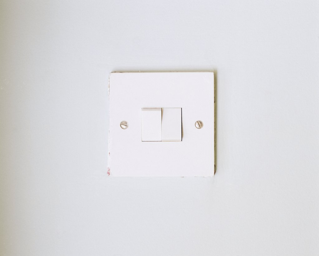 A light switch. : Stock Photo