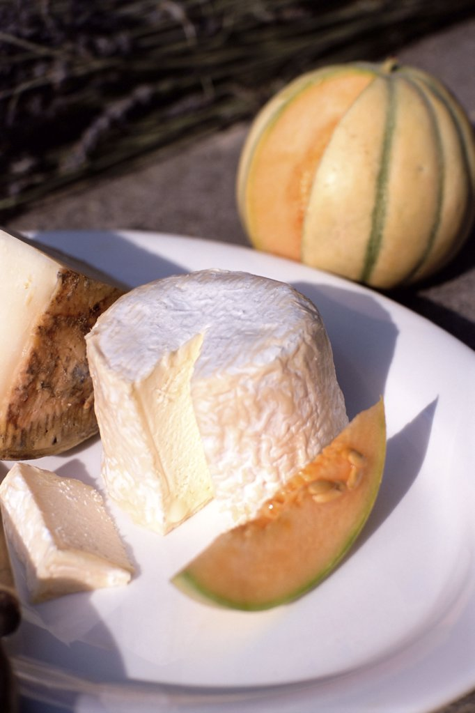 Cheeses and pumpkin : Stock Photo