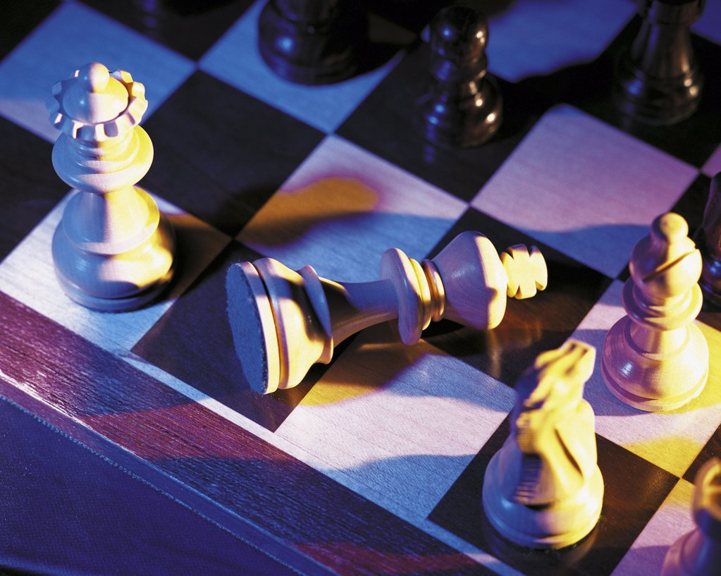 Stock Photo: 1439R-28016 Chess board