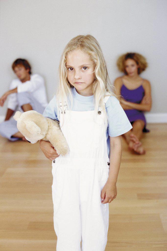 Stock Photo: 1439R-49084 Girl with teddy bear