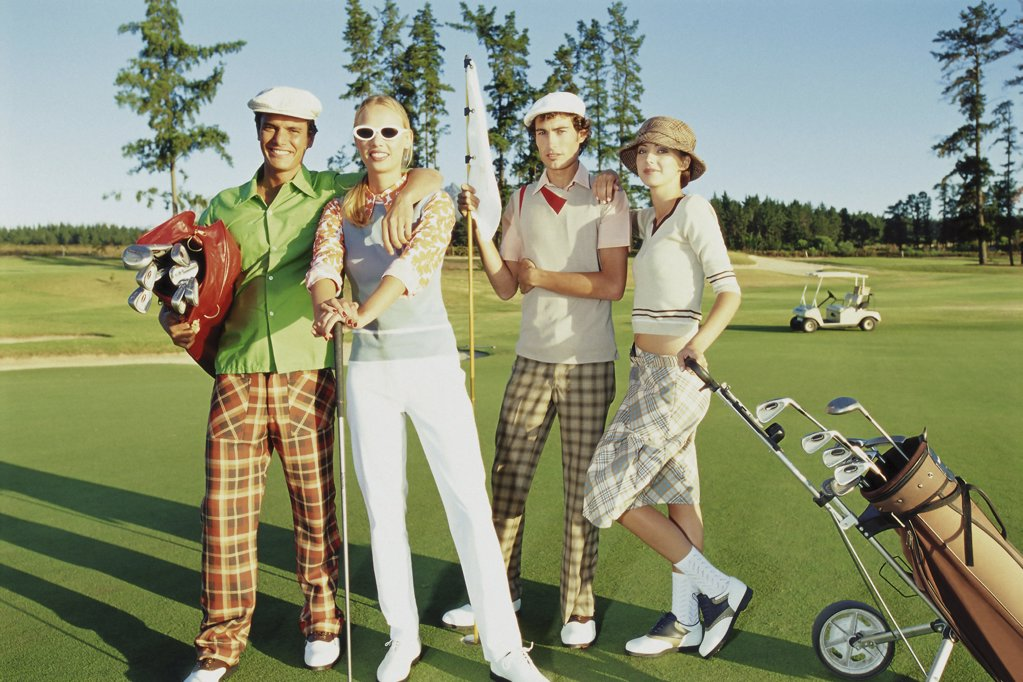 Stock Photo: 1439R-501100 Friends at the golf course