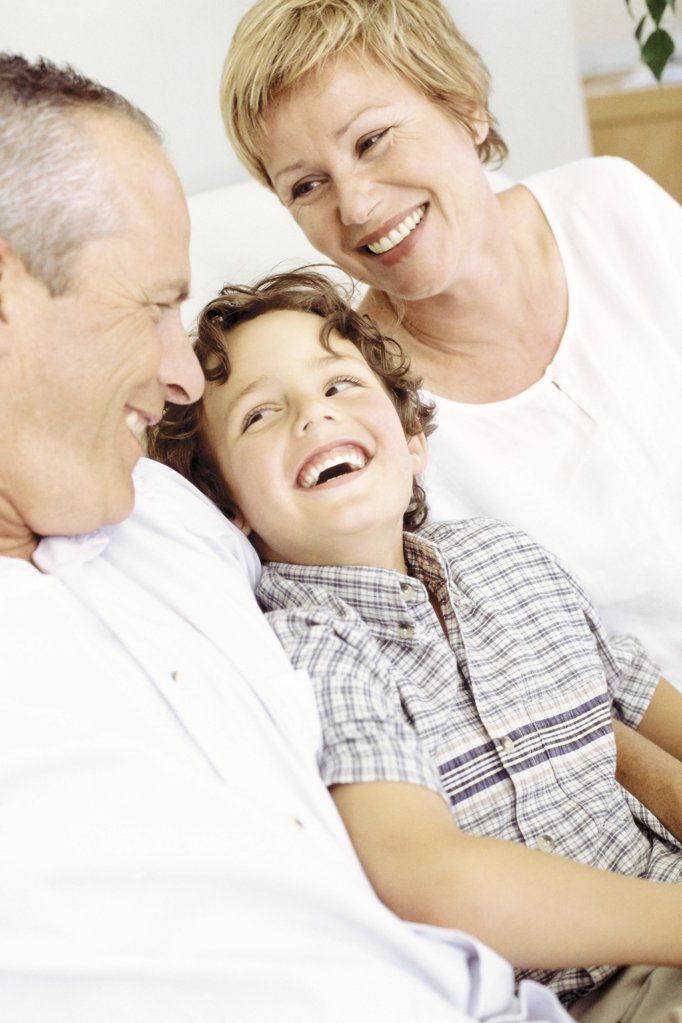 Stock Photo: 1439R-51002 Grandparents with grandson