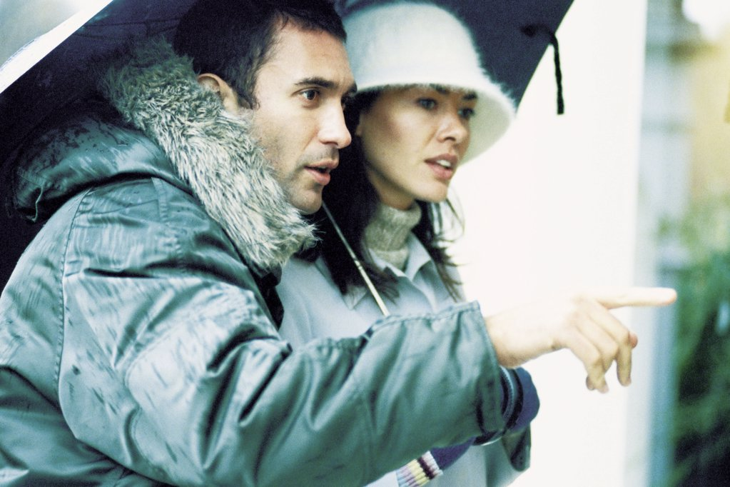 Couple under umbrella : Stock Photo