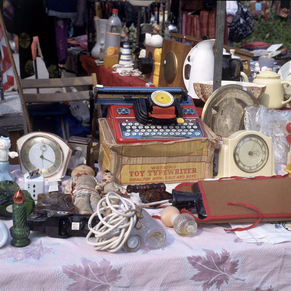 Flea market stand : Stock Photo
