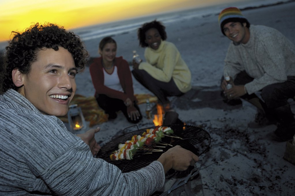 Beach barbecue : Stock Photo