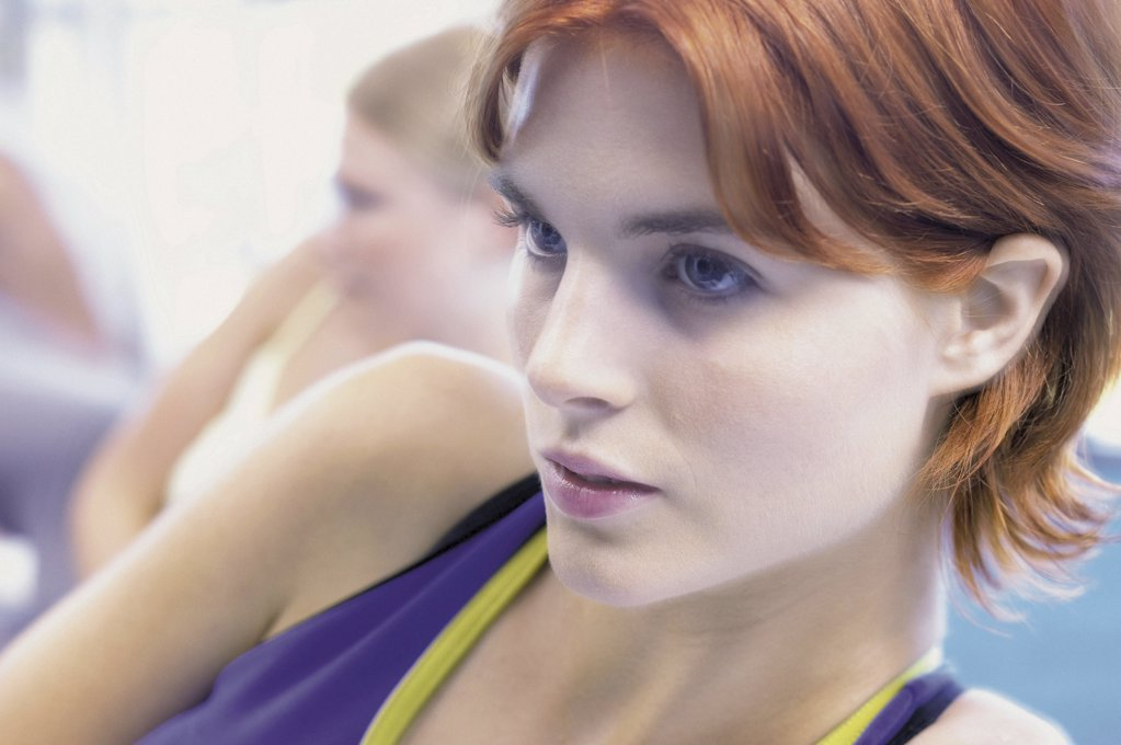 Stock Photo: 1439R-67093 Woman in fitness class