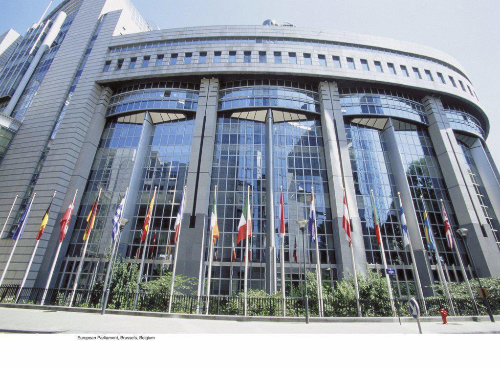 European Parliament, Brussels, Belgium : Stock Photo