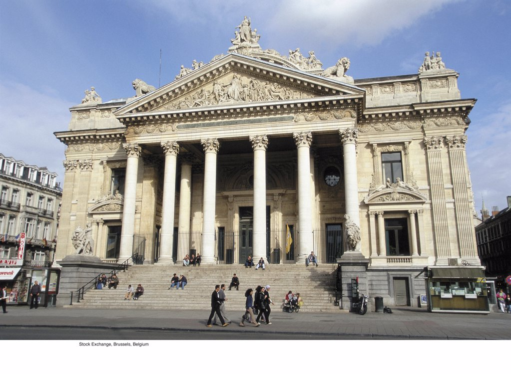 Stock Photo: 1439R-701021 Stock Exchange, Brussels, Belgium