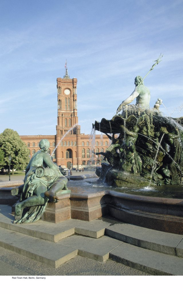 Stock Photo: 1439R-701028 Red Town Hall, Berlin, Germany