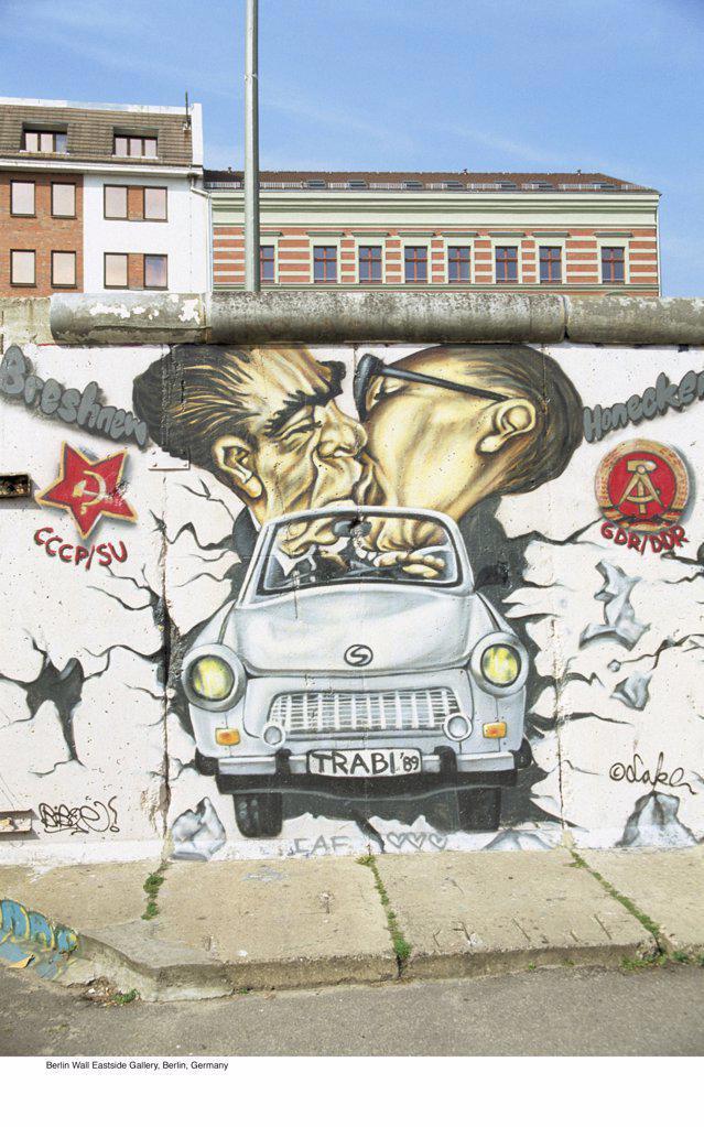 Berlin Wall Eastside Gallery, Berlin, Germany : Stock Photo