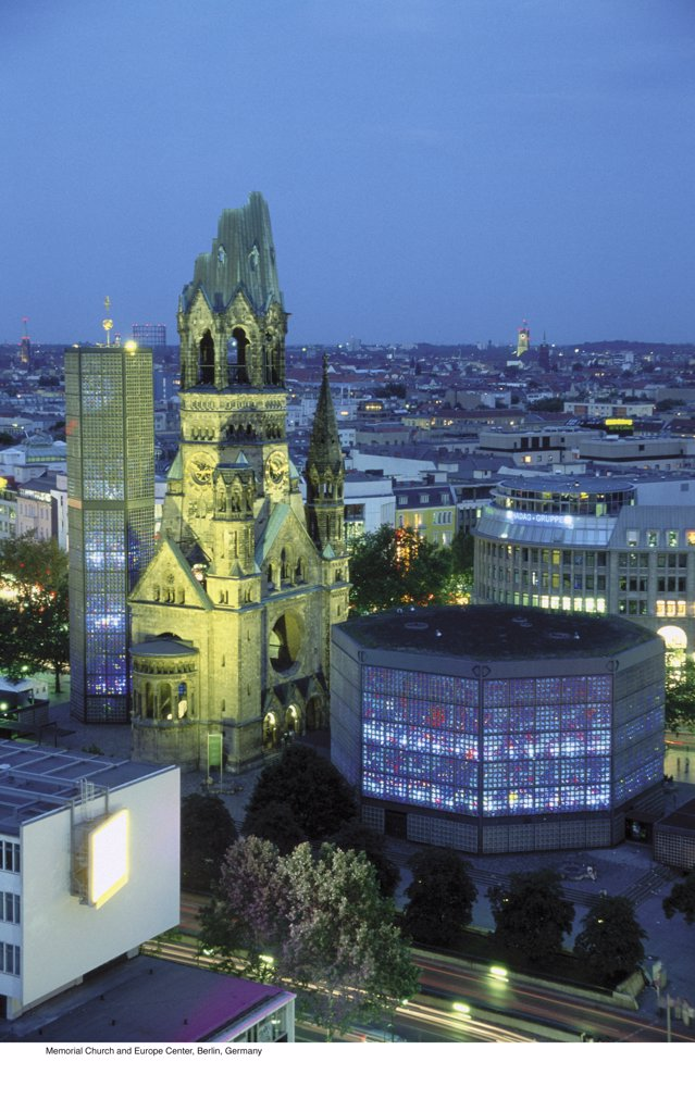 Stock Photo: 1439R-701052 Memorial Church and Europe Center, Berlin, Germany