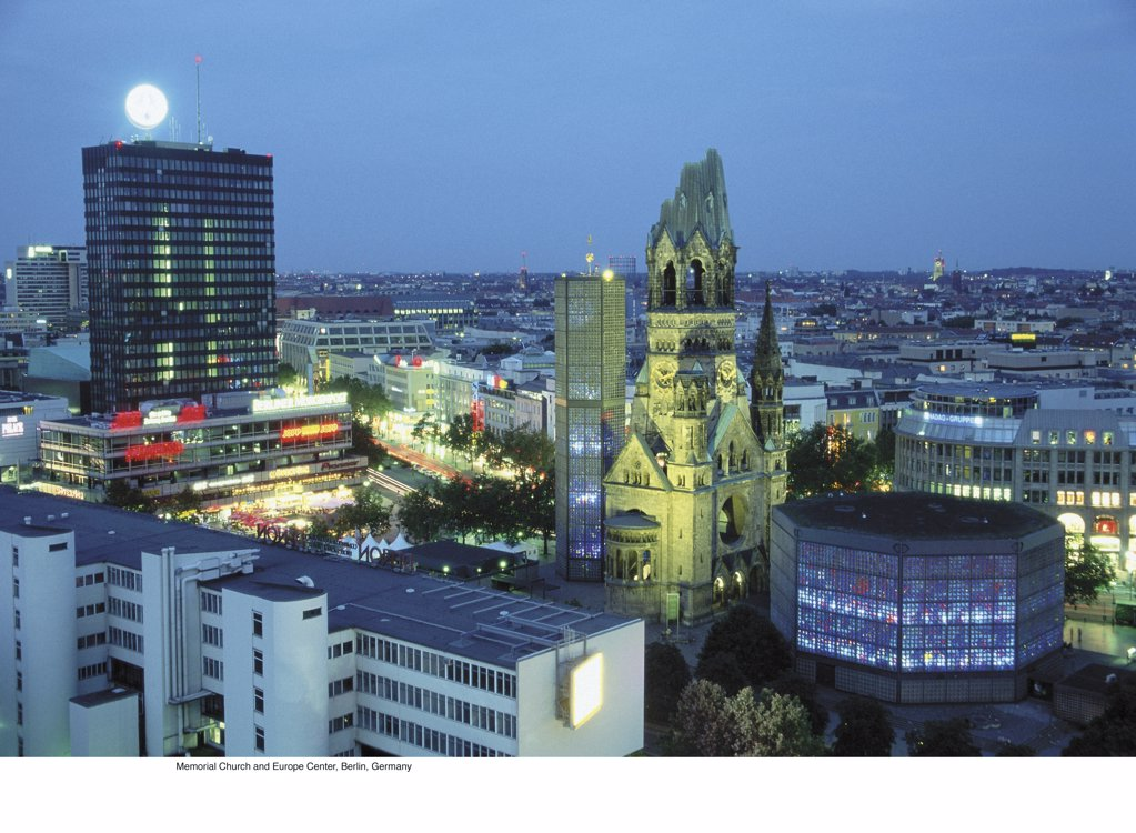 Memorial Church and Europe Center, Berlin, Germany : Stock Photo