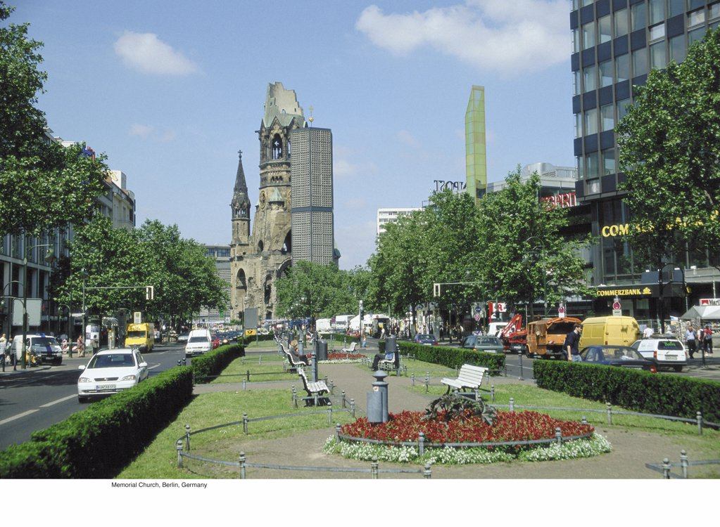 Stock Photo: 1439R-701054 Memorial Church, Berlin, Germany